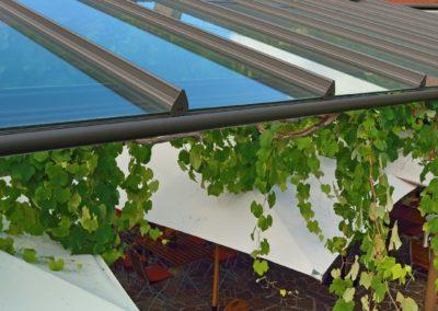 Terrassendach im Gastronomie-Bereich